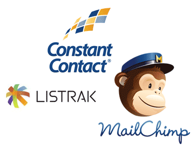 Constant Contact, Listrak and Mail Chimp logos