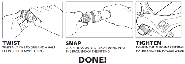 Instructions to connect Track Pipe