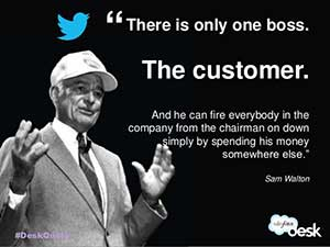 There is only one boss.  The Customer.