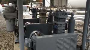 Image of three compressors in use.