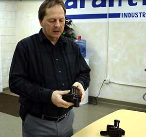 Image of Frank showing the compact regulator.