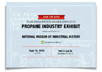 Propane Exhibit invitation.