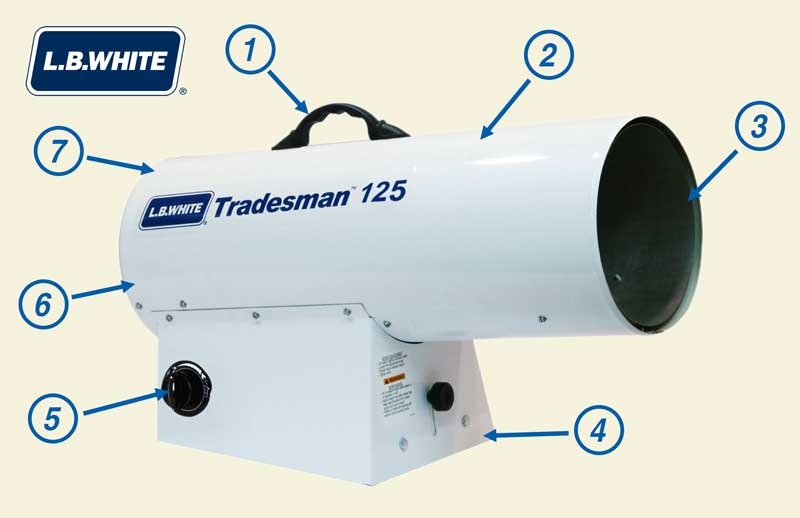 Tradesman 125 portable heater