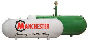 Above ground and underground tanks with the Manchester logo.