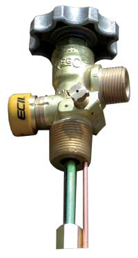heavy duty cylinder valves for vapor withdrawal.