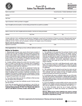 Download the Massachusetts Sales Tax Form