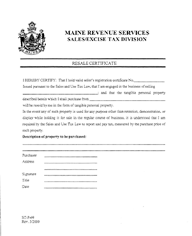 Download the Maine Sales Tax Form