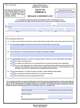 Download the New Jersey Sales Tax Form