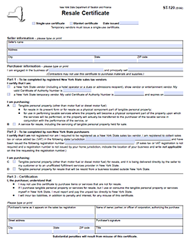 Download the New York Sales Tax Form